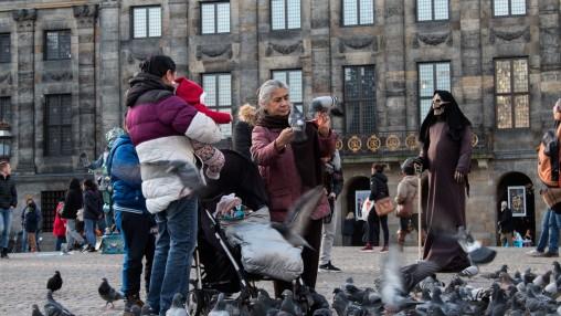 lady dove dam square amsterdam